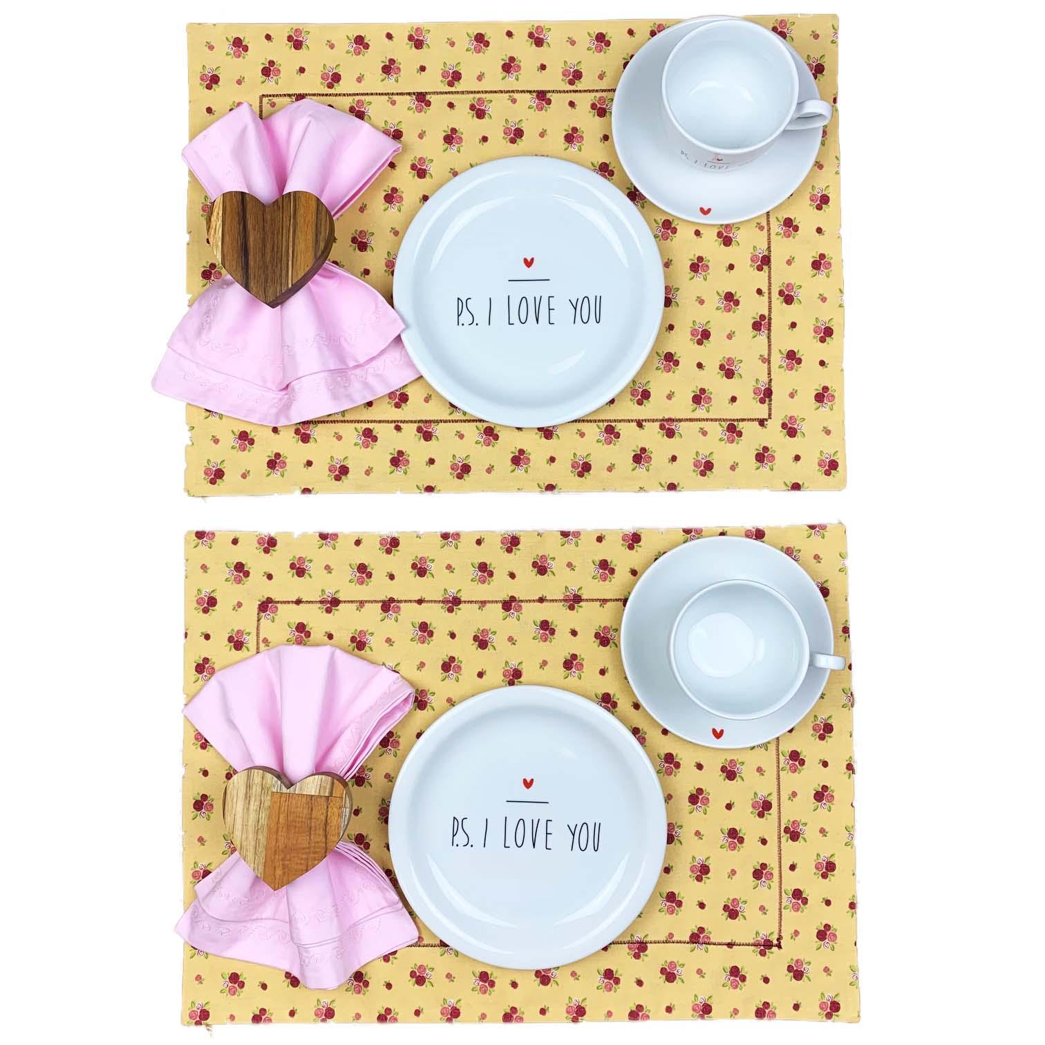 Box P.S. I love you floral rosa candy c/12 peças