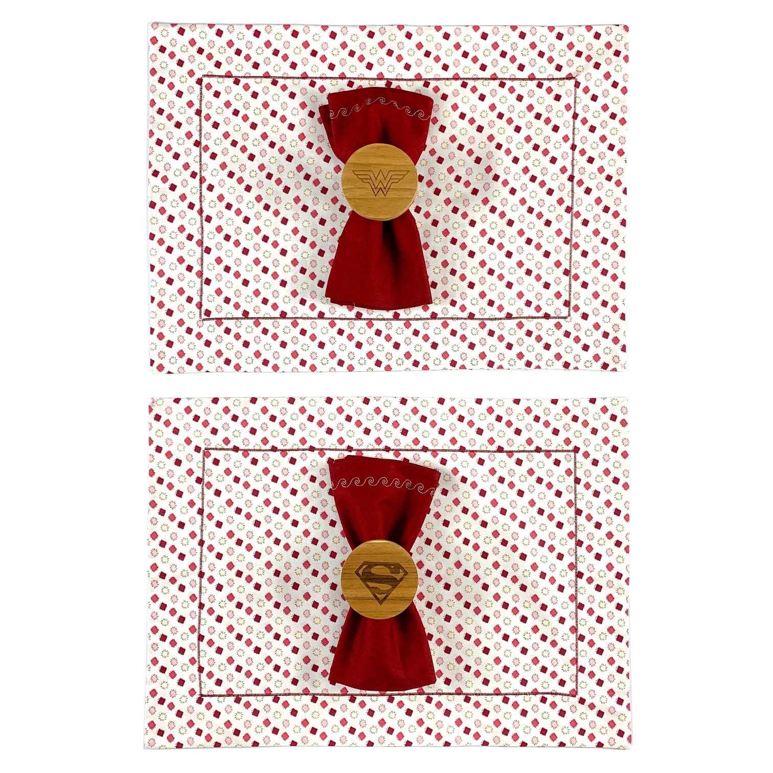 Box Super Heroes Vermelho c/6 peças