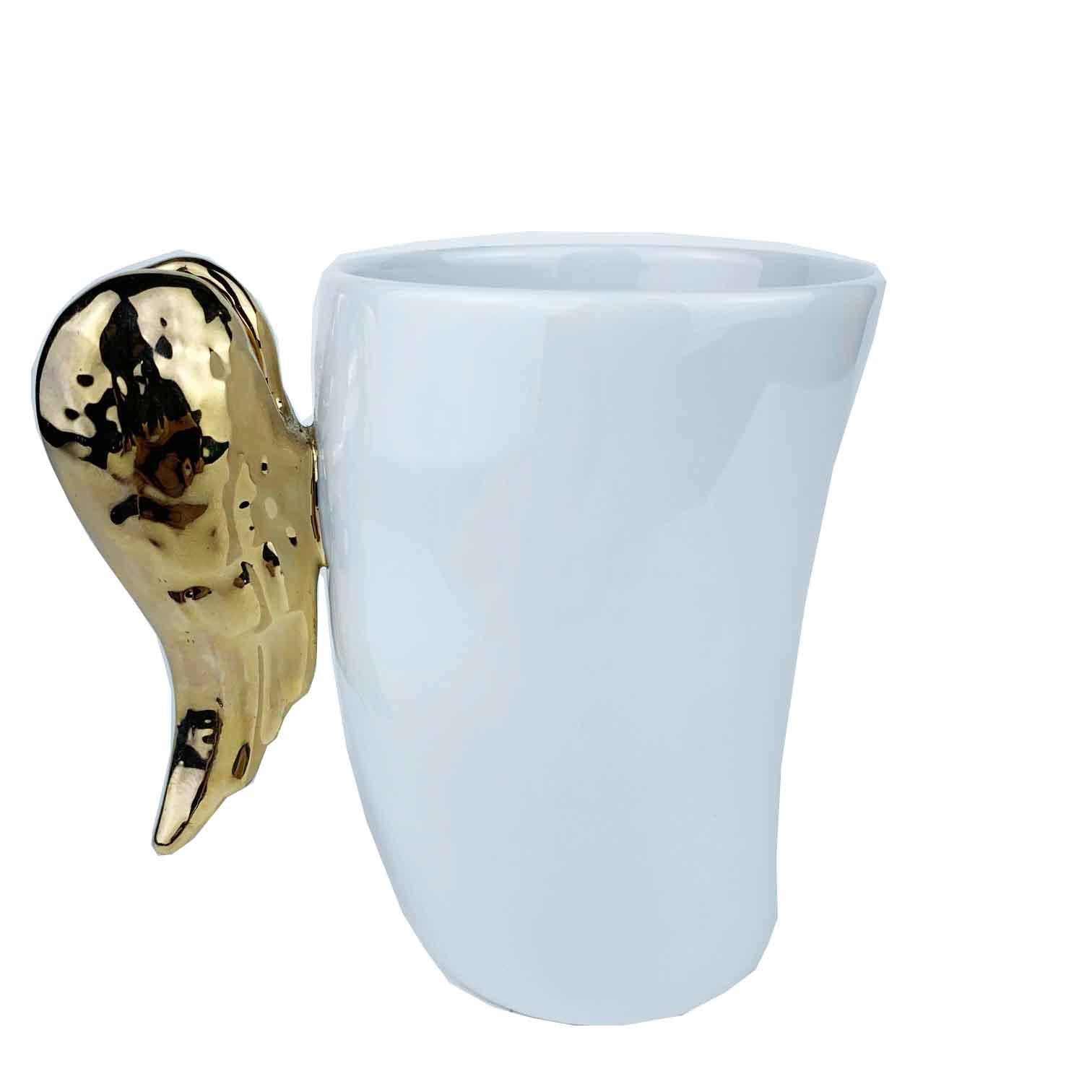 Caneca Angel Wings Gold Porcelana 280ml