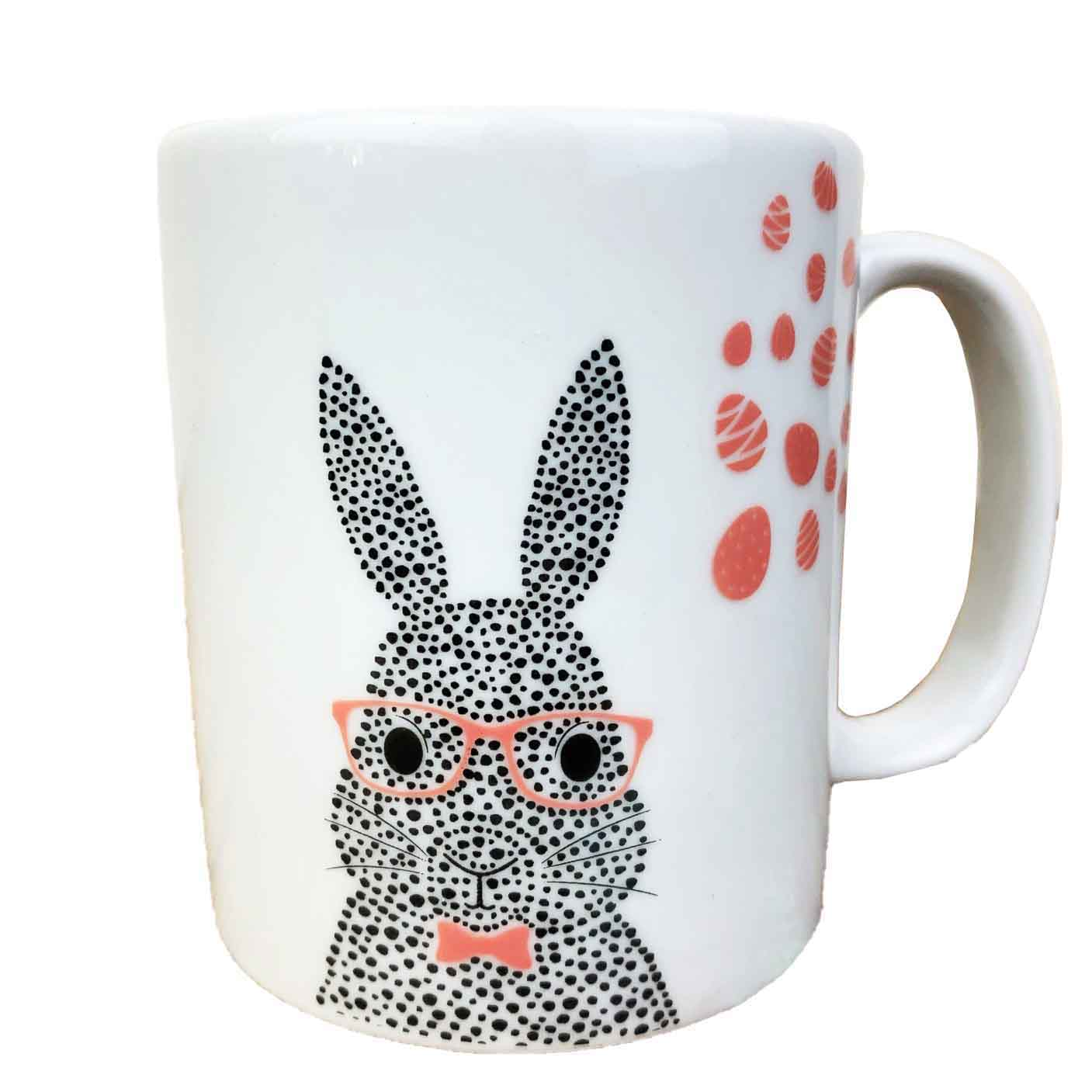 Caneca Bunny, em porcelana 290ml, coleção exclusiva Jardim de Páscoa