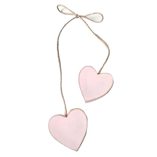 Corações Rosa no cordão