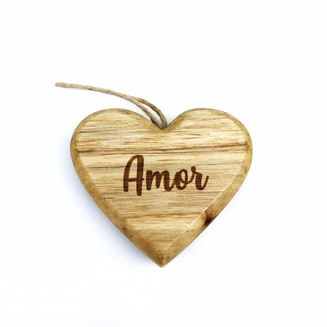 Enfeite Hearts Amor Madeira