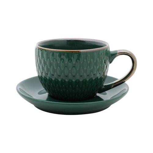 Xícara para Café com pires Porcelana Drops Verde