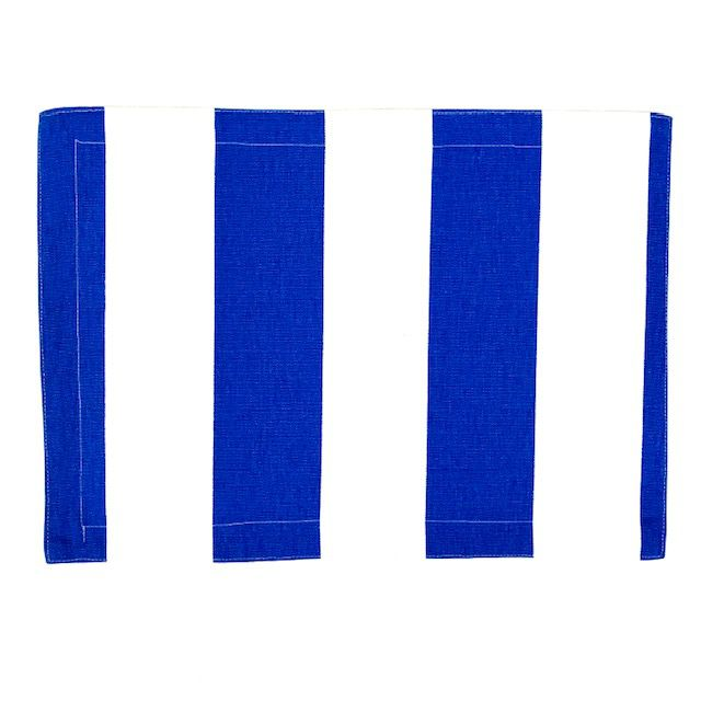 Jogo Americano 4 Lugares Dupla Face Azul e Off White