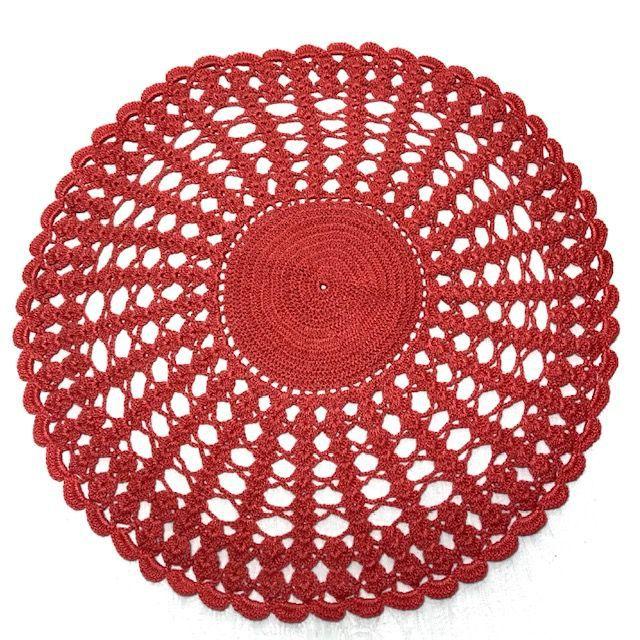 Jogo Americano Crochê Coral 4 lugares