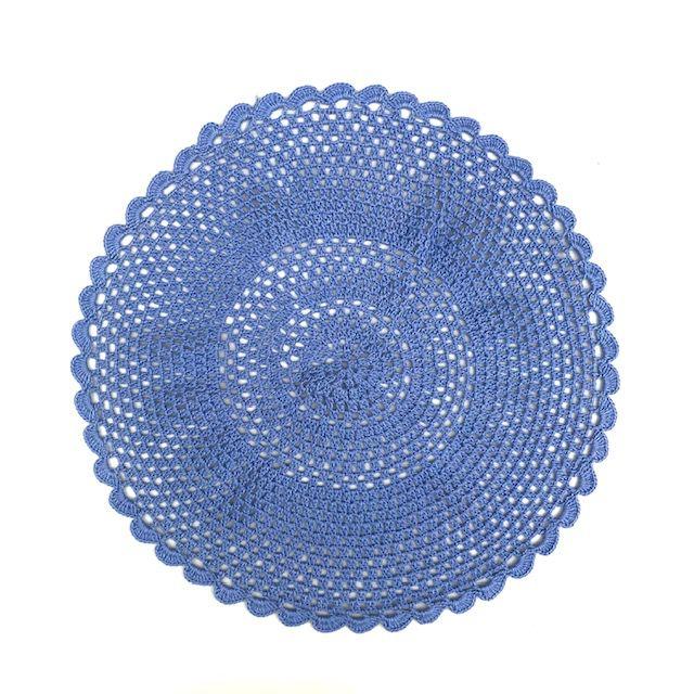 Jogo Americano Crochê  Lilás Azulado