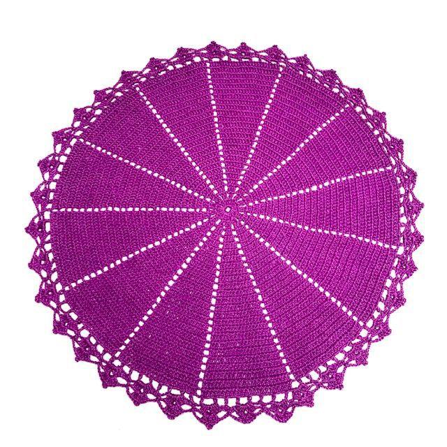 Jogo Americano Crochê Pink Fuchsia 2 lugares
