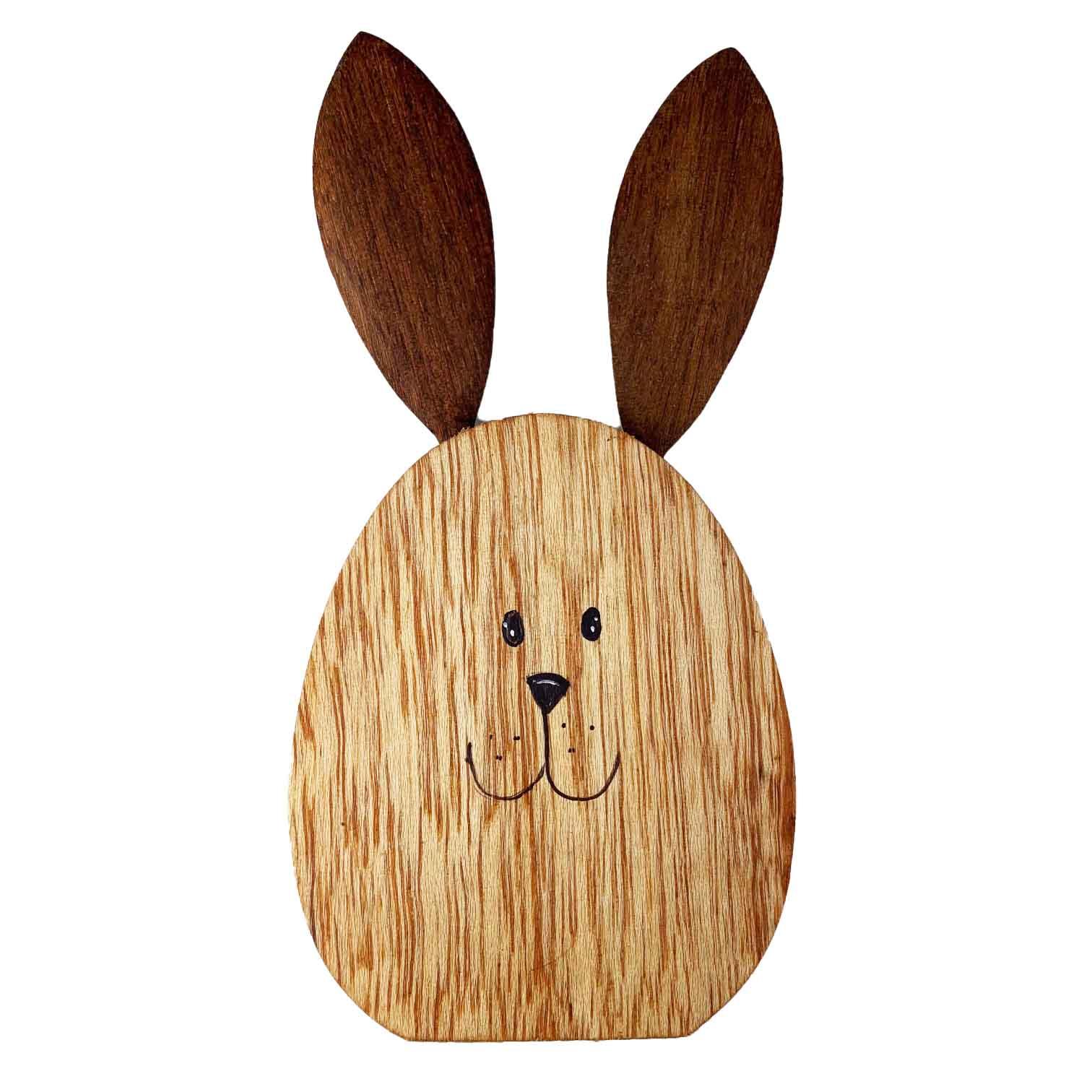 Jogo c/ 2 espátulas no Suporte Bunny em madeira