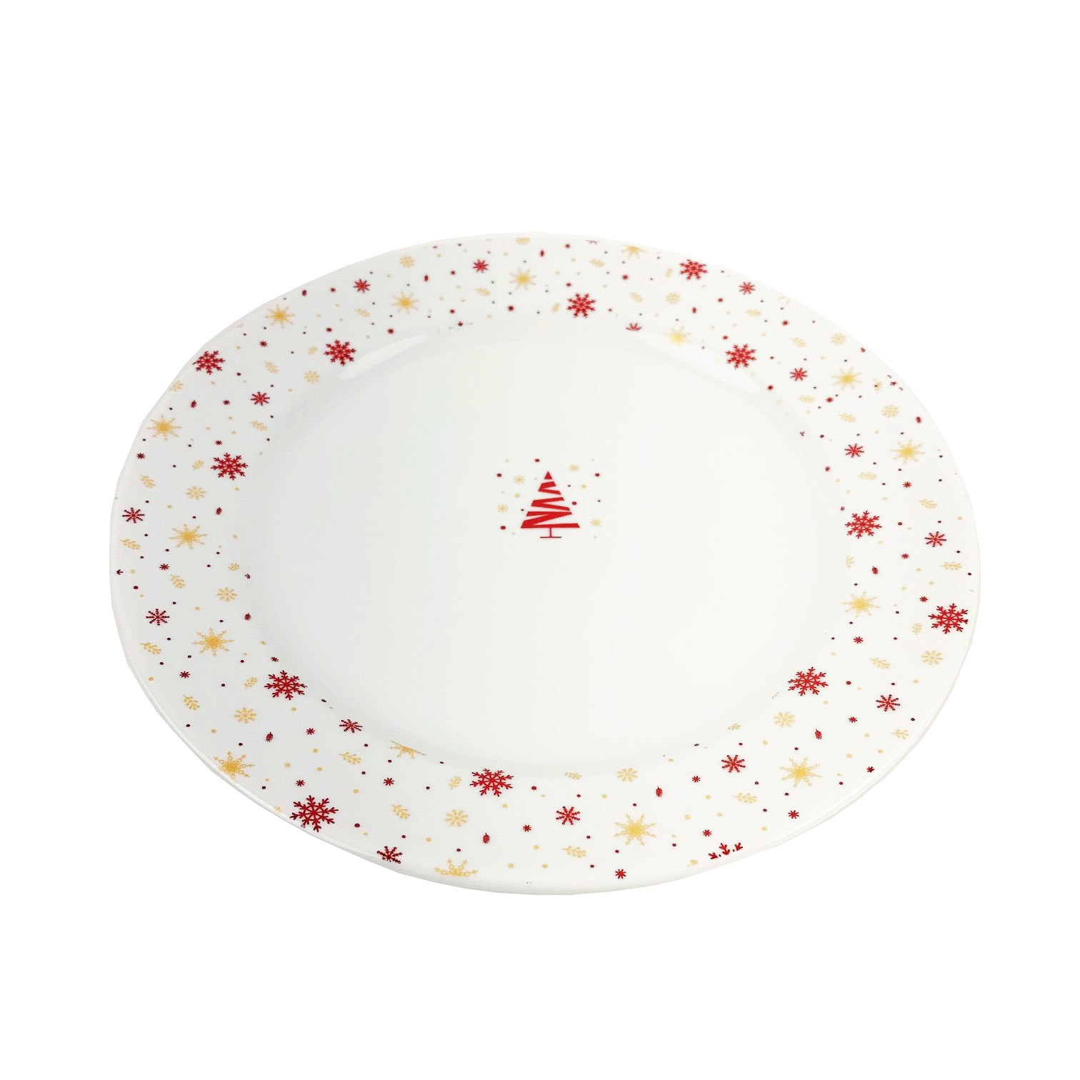 Jogo c/2 Pratos de Sobremesa Christmas Snow Flakes