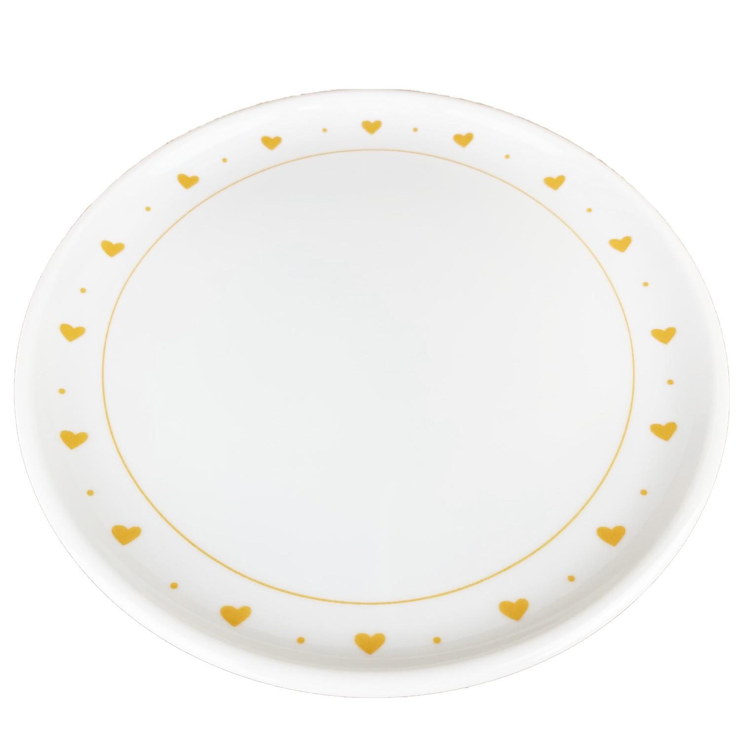 Jogo c/2 Pratos Sobremesa, em porcelana 18 cm diâmetro, coleção exclusiva Golden Mary