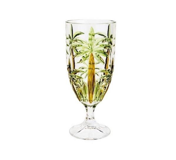 Jogo c/2 Taças de Cristal Palm Tree