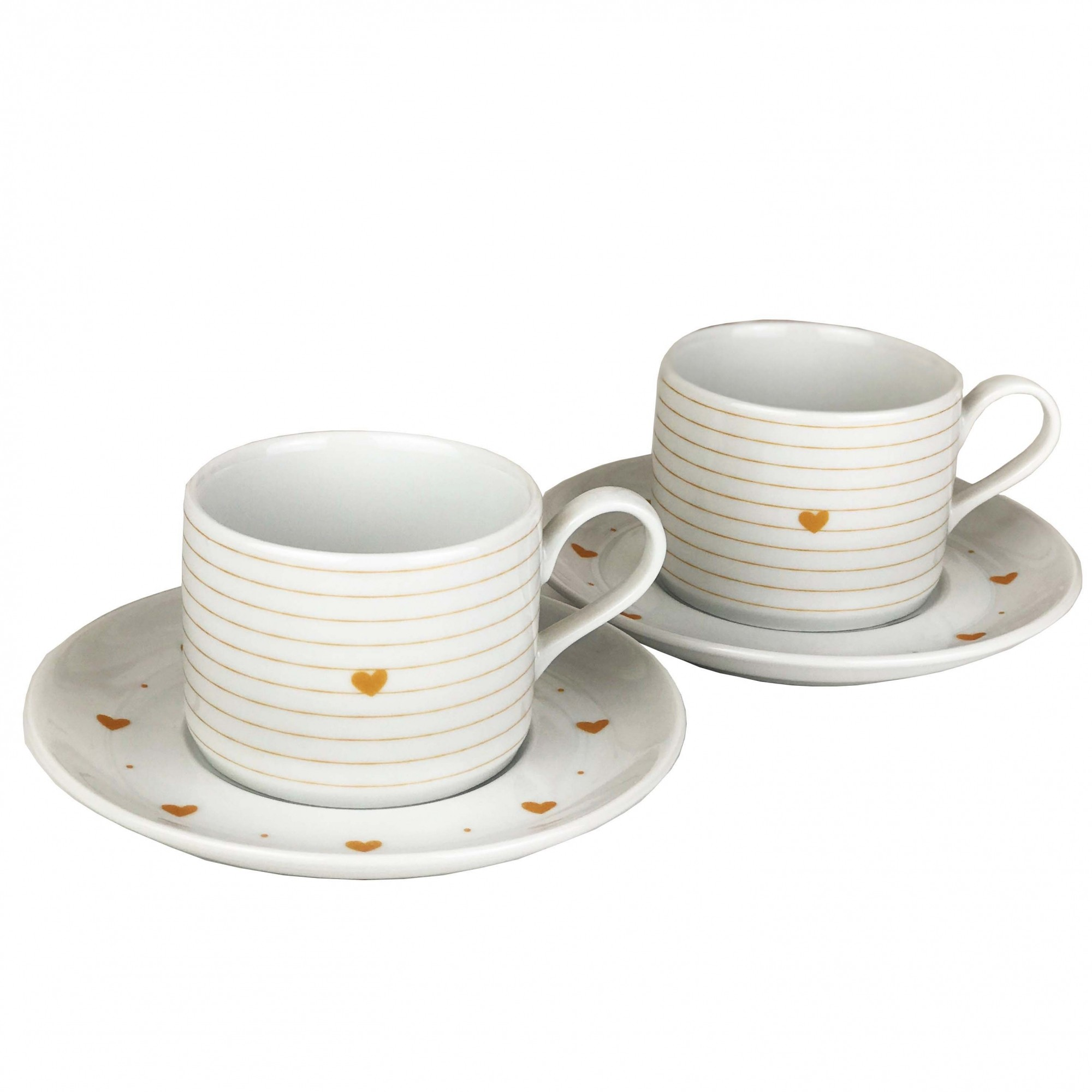Jogo c/ 2 Xícaras de Chá Golden Mary