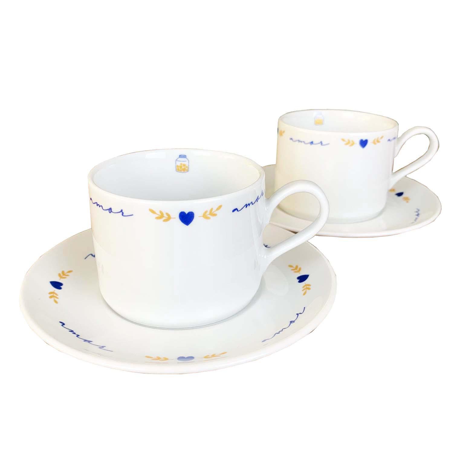 Jogo c/ 2 Xícaras de Chá Poções de Amor