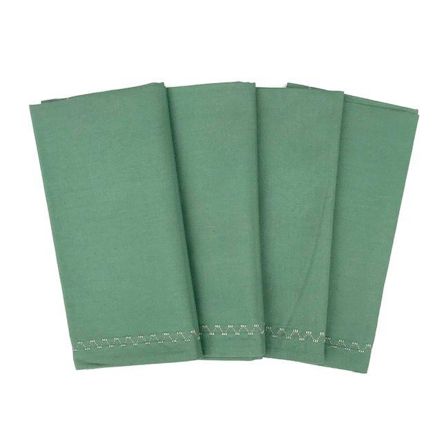Jogo c/ 4 Guardanapos Verde Pistache duplos