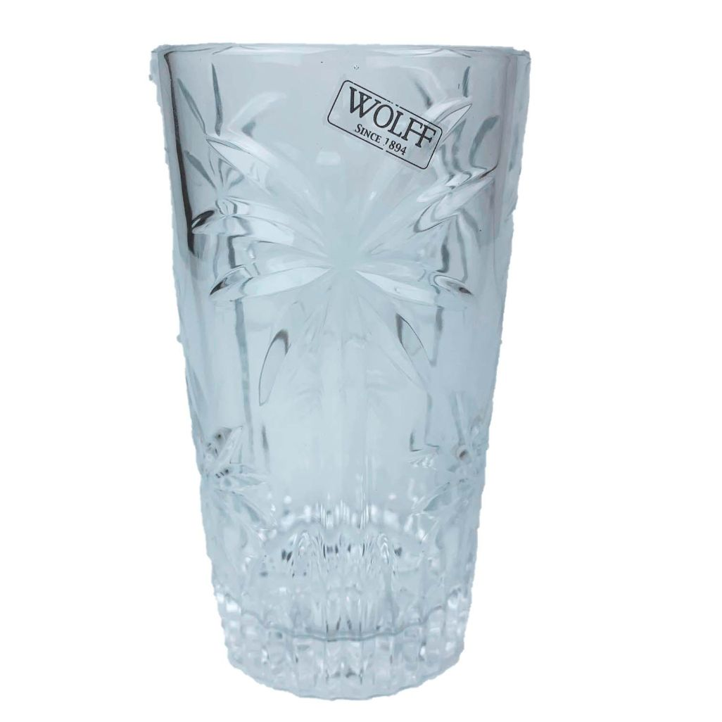 Jogo c/6 copos altos Palm Tree Cristal Wolff