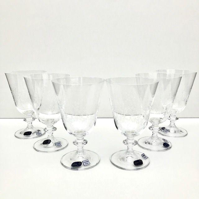 Jogo c/6 Taças de Cristal p/Vinho 350ml - Floral