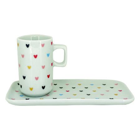 Jogo Coffee Break Hearts Colors c/2 peças