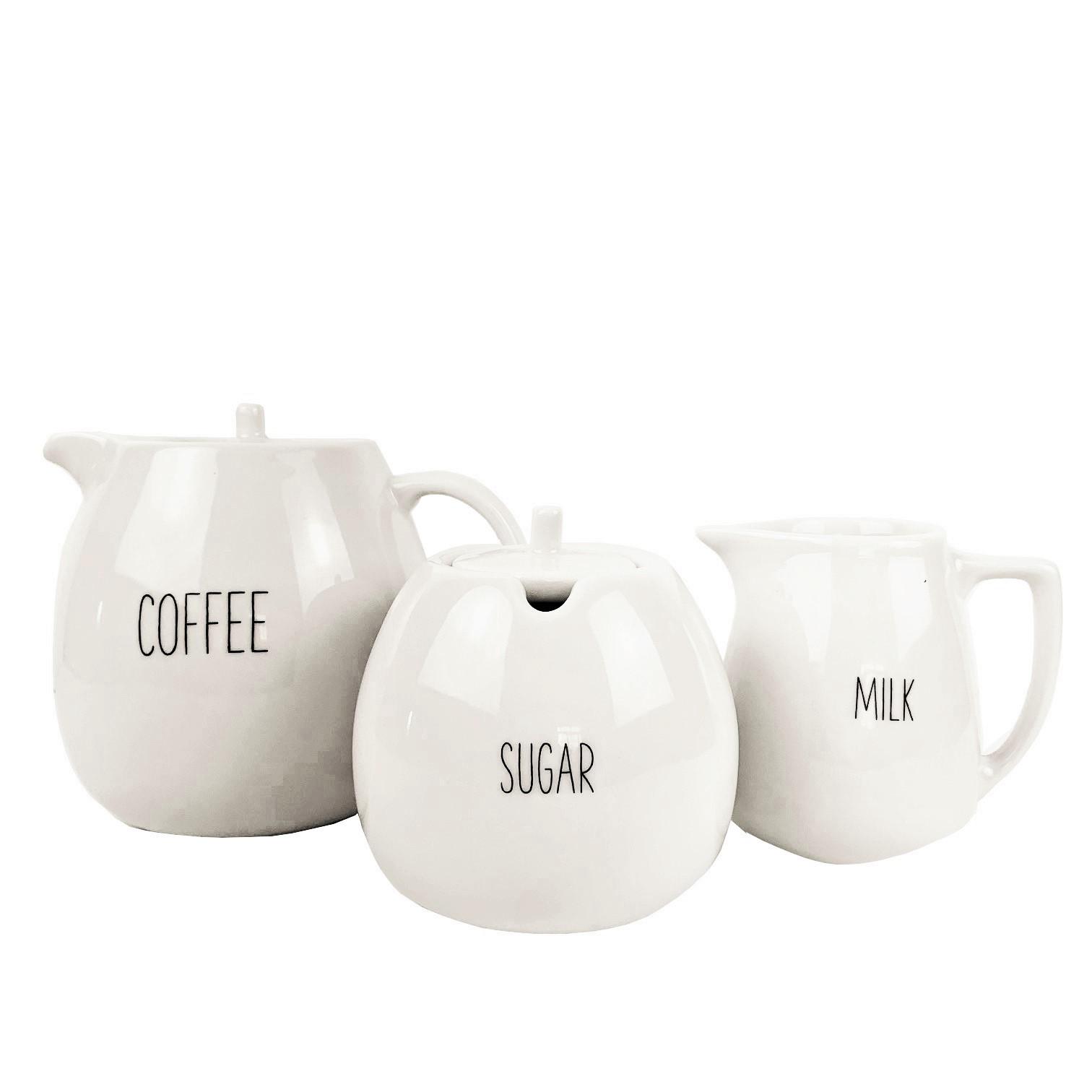 Jogo de Chá Coffee Lettering  c/3 peças