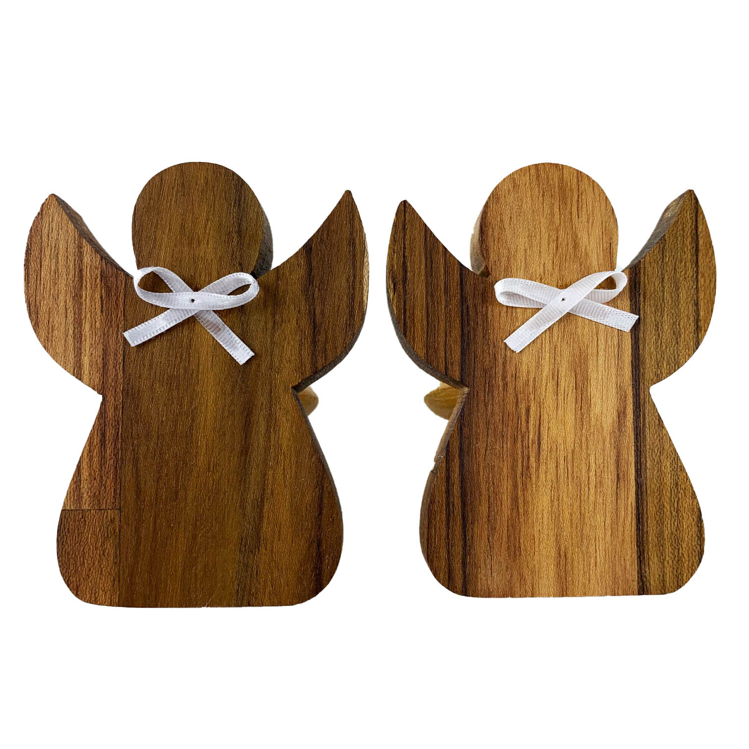 Jogo com 2 Argolas Anjo madeira