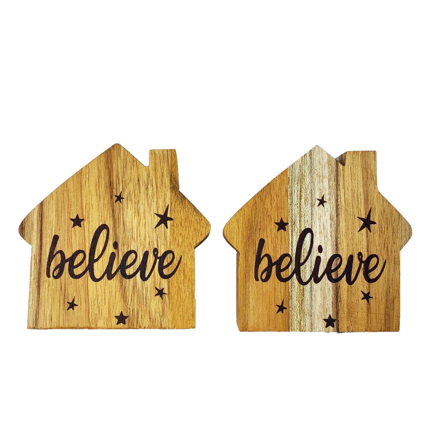 Jogo com 2 Argolas em madeira Home Believe