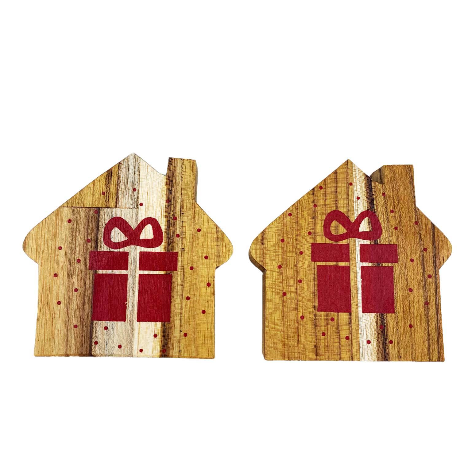Jogo com 2 Argolas em madeira Home Gift