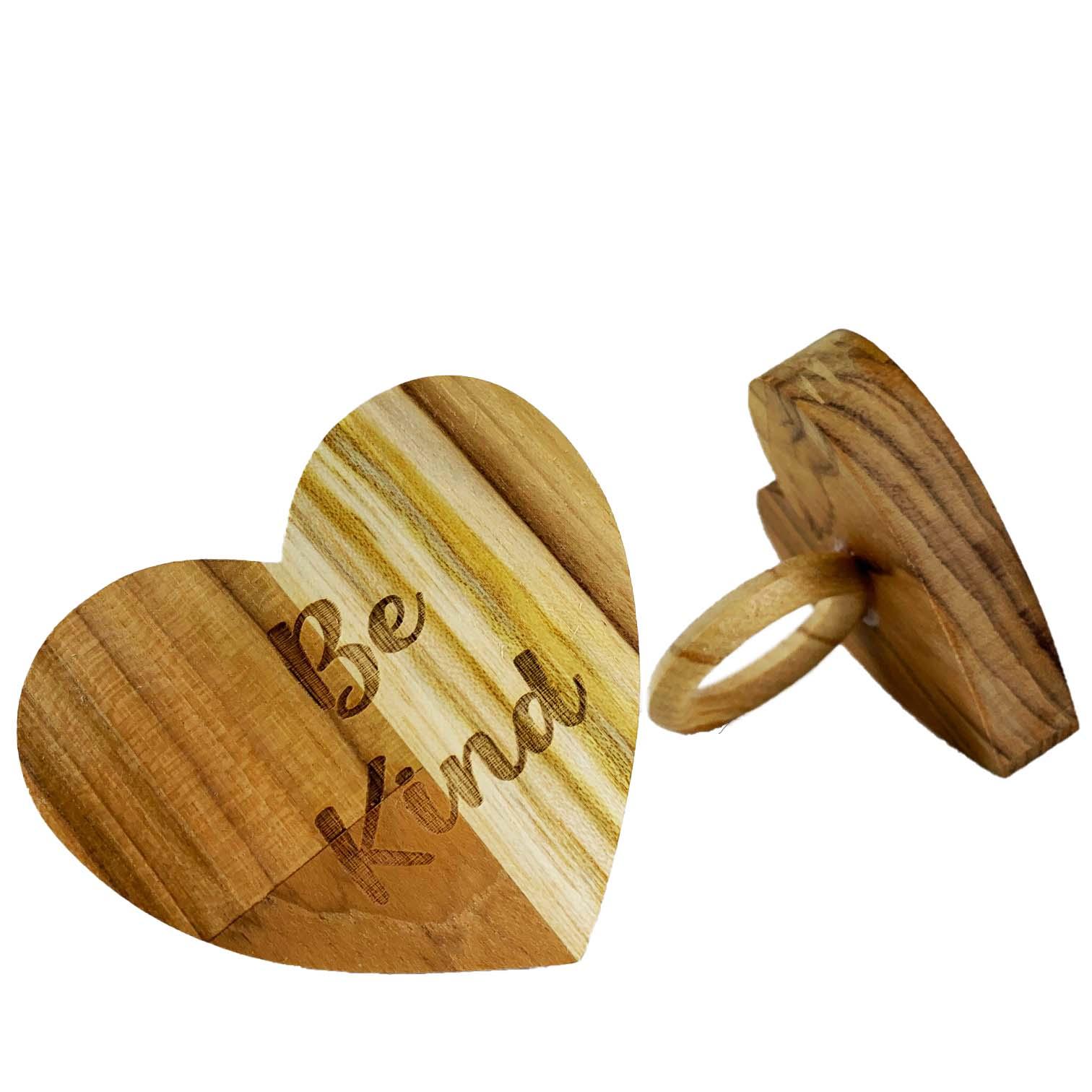 Jogo com 2 Argolas Hearts Madeira Be Kind