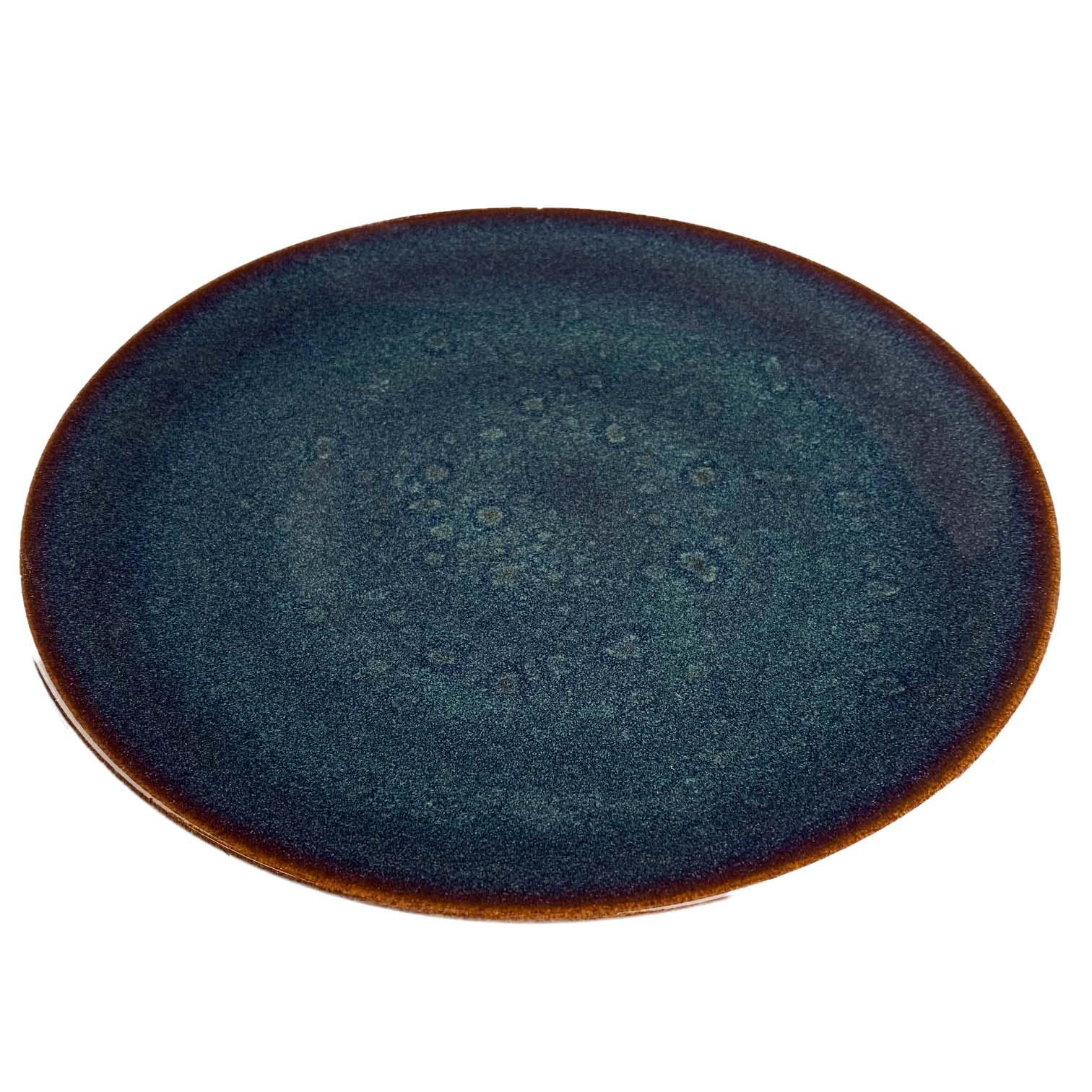 Jogo com 2 Pratos Rasos Porcelana Azul Glaze