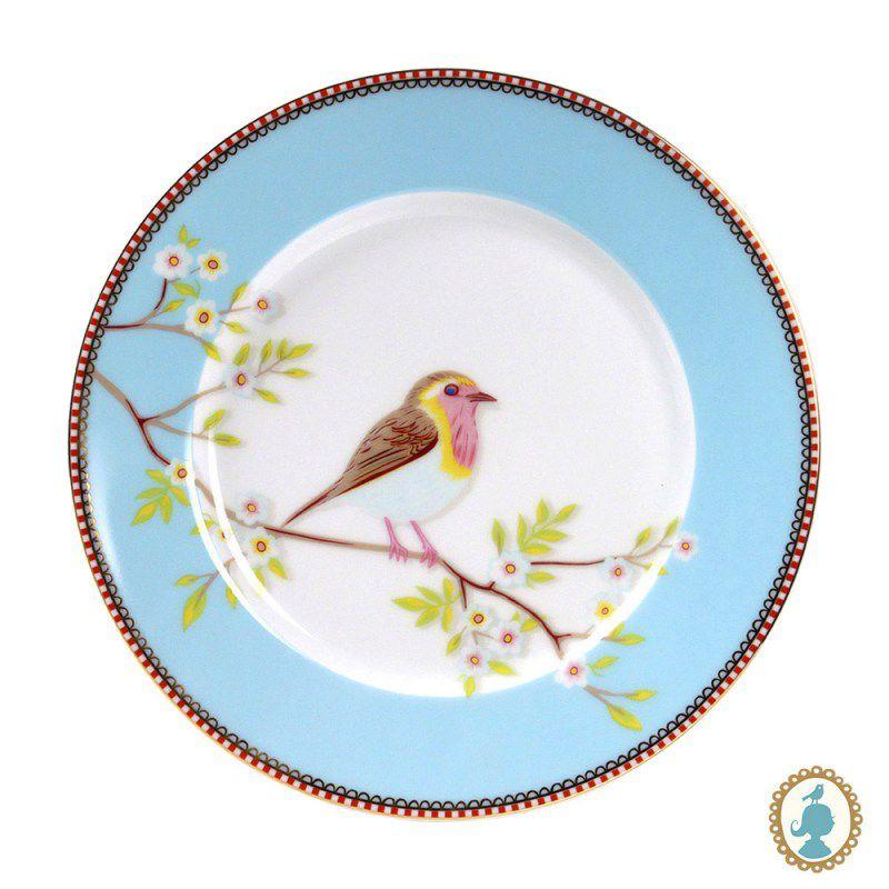 Jogo com 2 Pratos Sobremesa Early Bird Azul