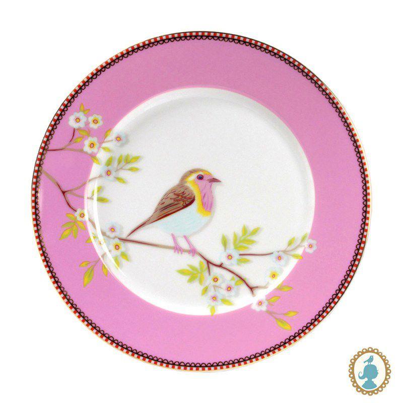 Jogo com 2 Pratos Sobremesa Early Bird Rosa
