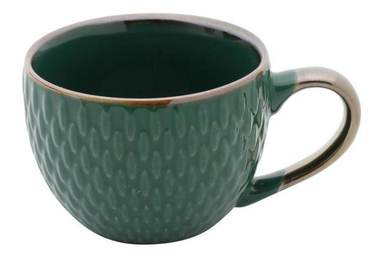 Jogo com 3 Xícaras para Café sem pires Porcelana Drops Verde