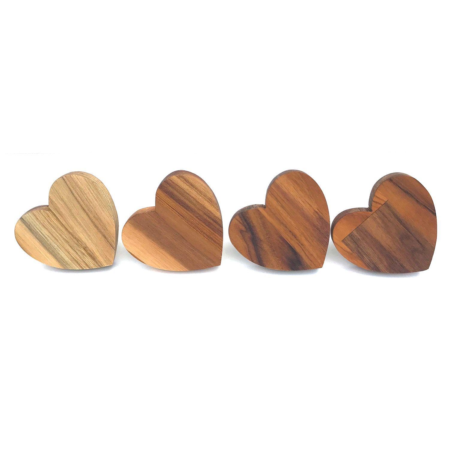 Jogo com 4 Argolas Hearts Madeira