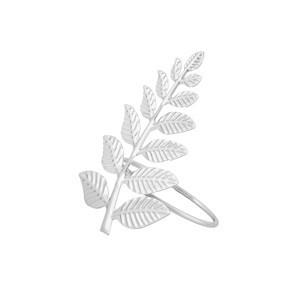 Jogo com 4 Argolas para Guardanapo Leaves Silver