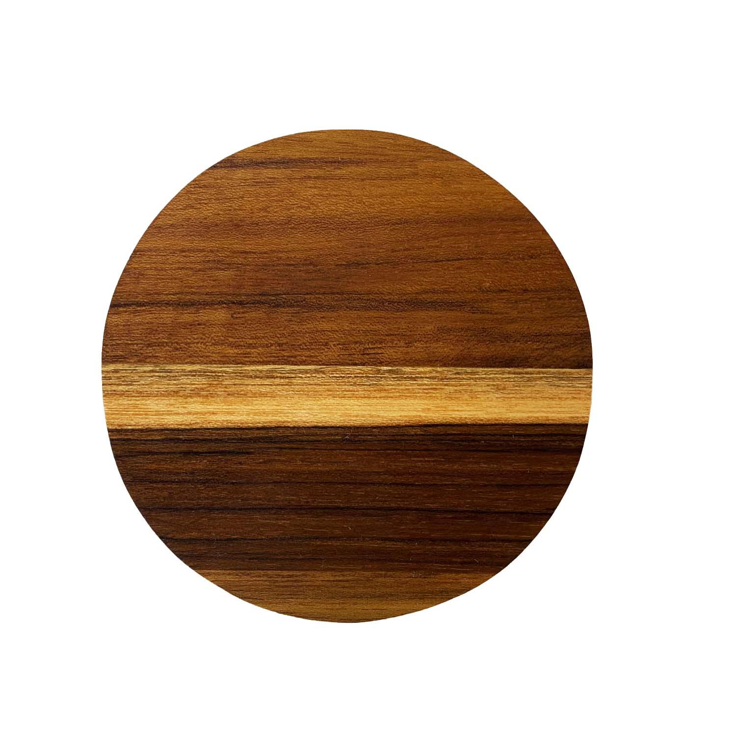 Jogo com 4 porta canecas Round e suporte em madeira
