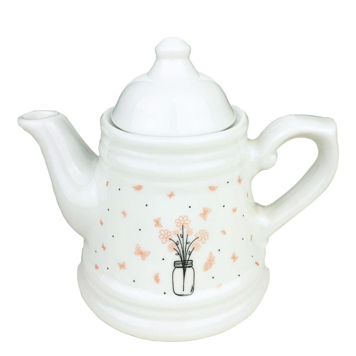 Jogo de Chá em porcelana, c/6 peças, coleção exclusiva Garden