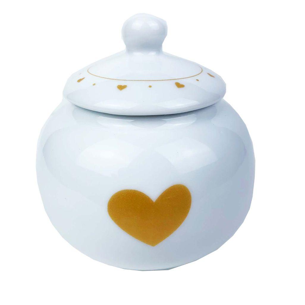 Jogo de Chá c/6 Peças, em porcelana, coleção exclusiva Golden Mary