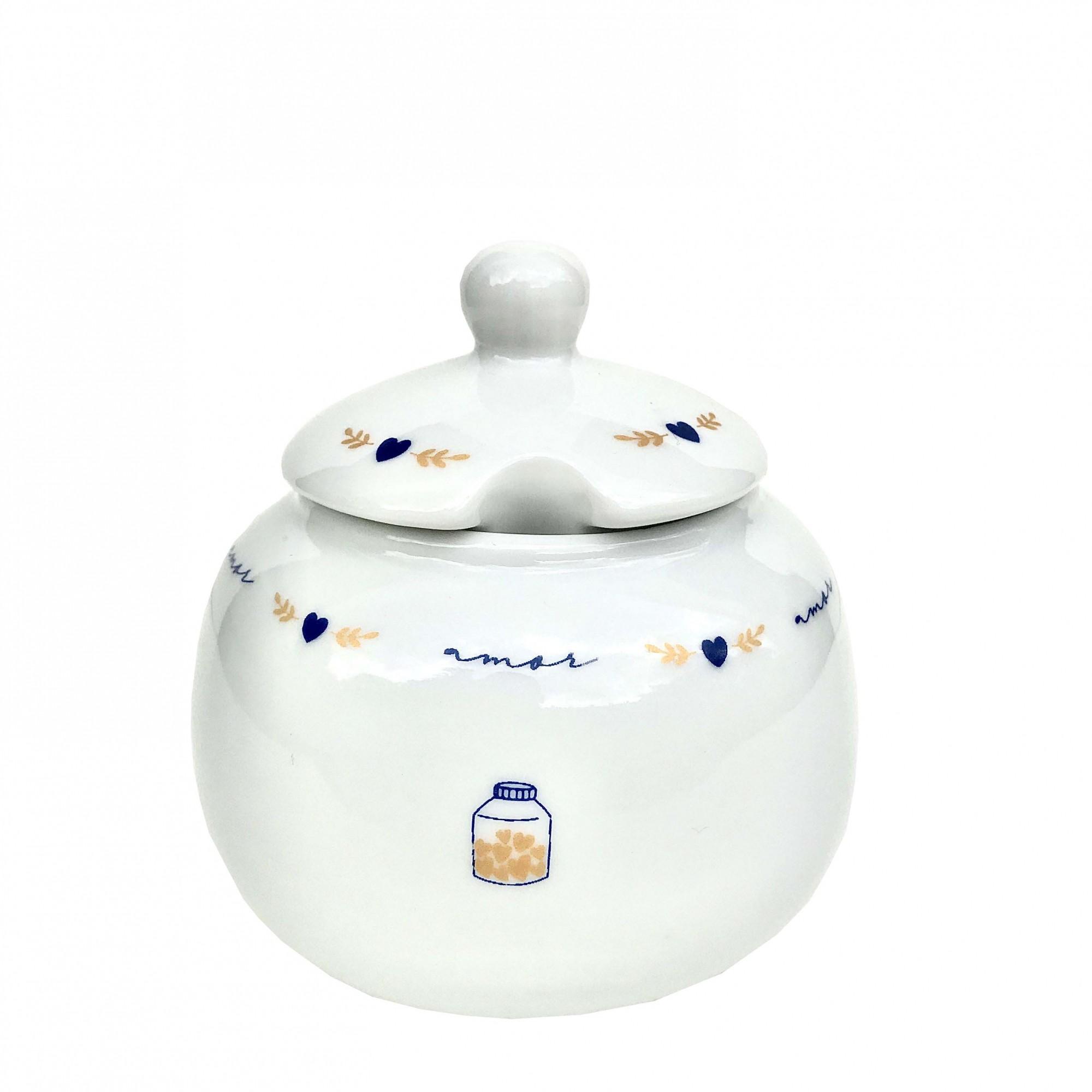 Jogo de Chá  c/6 Peças, em porcelana, coleção exclusiva Poções de Amor