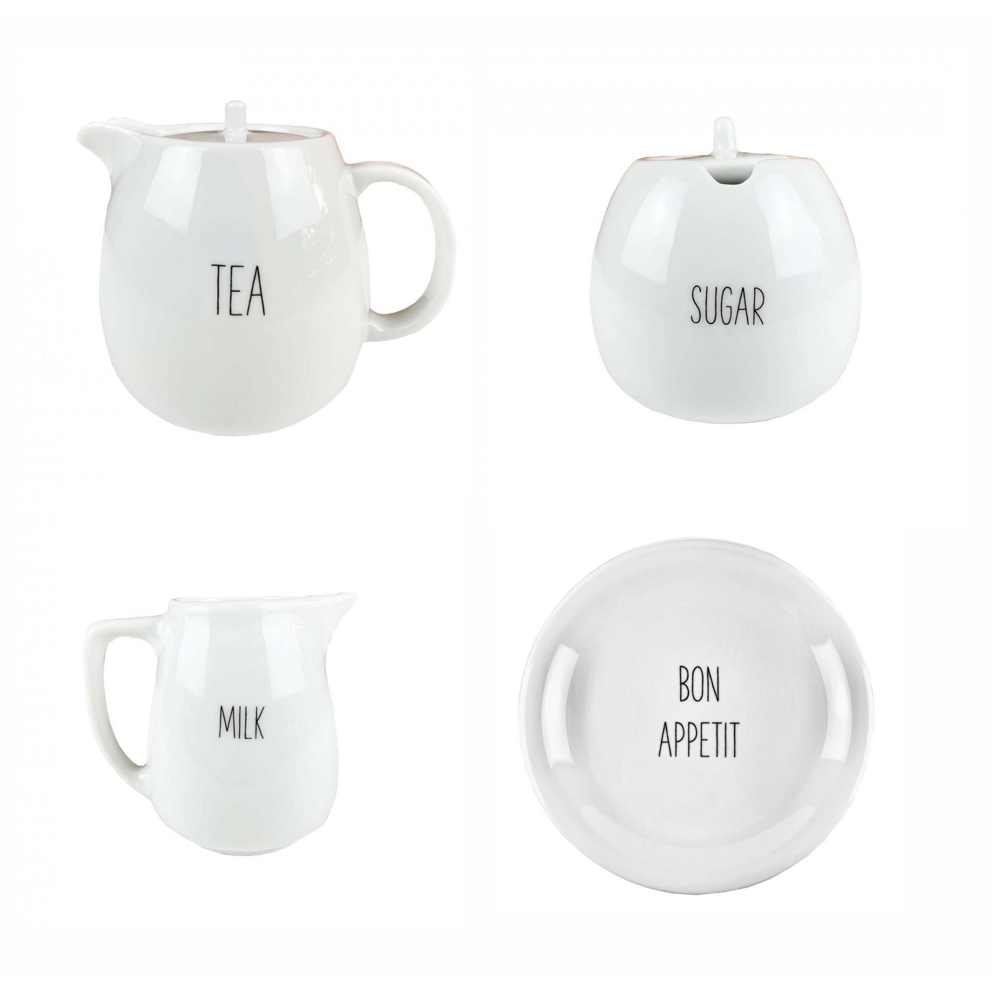 Jogo Tea Lettering  c/5 peças