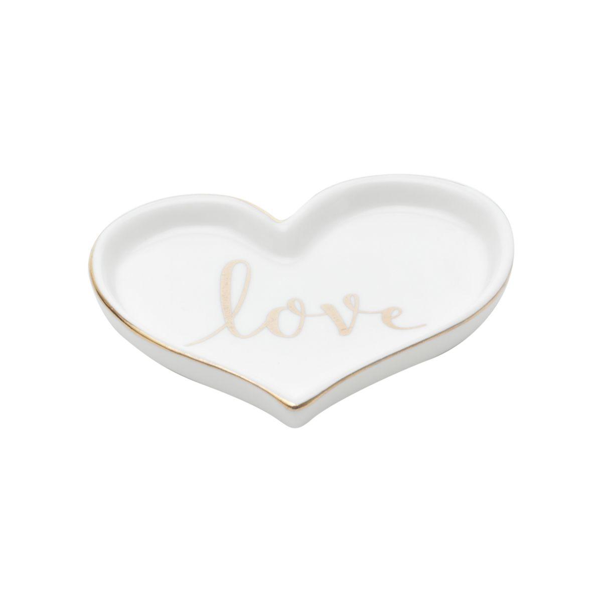 Porta Anéis Escrita Love  Dourado