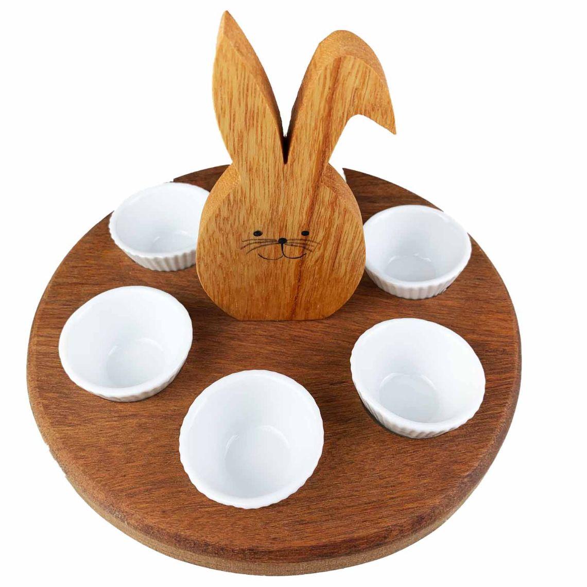 Porta Doces Bunny c/6 Forminhas em porcelana