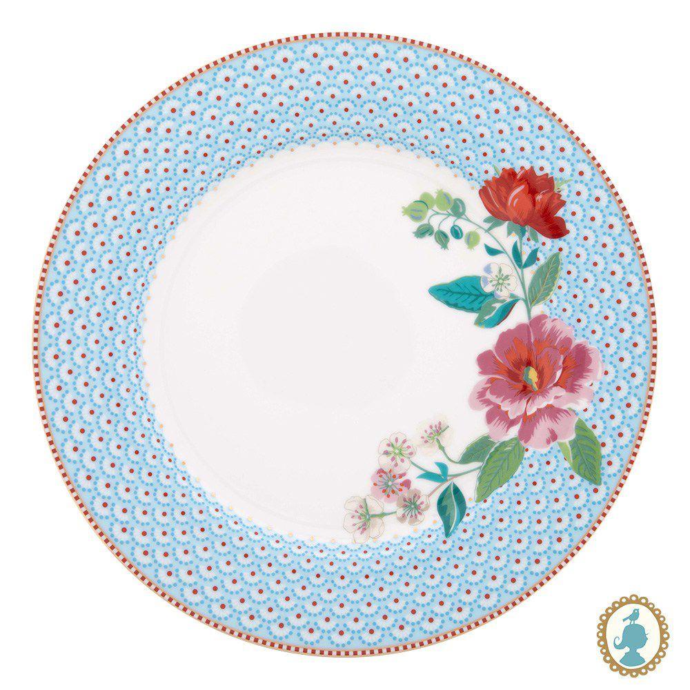 Prato de Jantar Rose Azul Floral Pip Studio