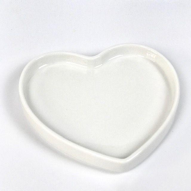 Prato Hearts Branco Porcelana 12cm