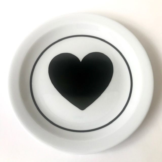 Prato para Sobremesa Black Heart