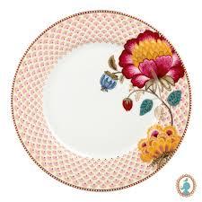 Prato Sobremesa Floral Fantasy Branco