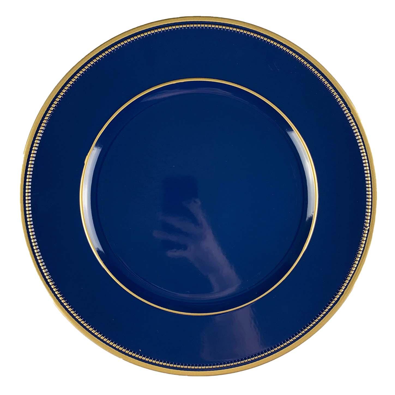 Sousplat Azul Marinho com dourado