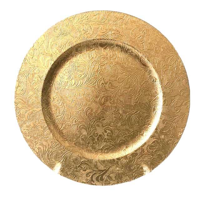 Sousplat Dourado Vintage