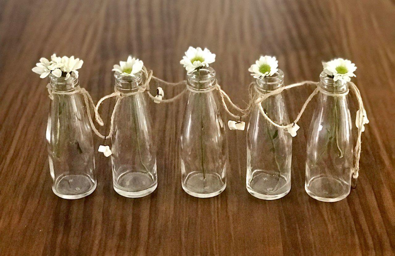 Vasinhos Parede ou Mesa com 5 garrafinhas