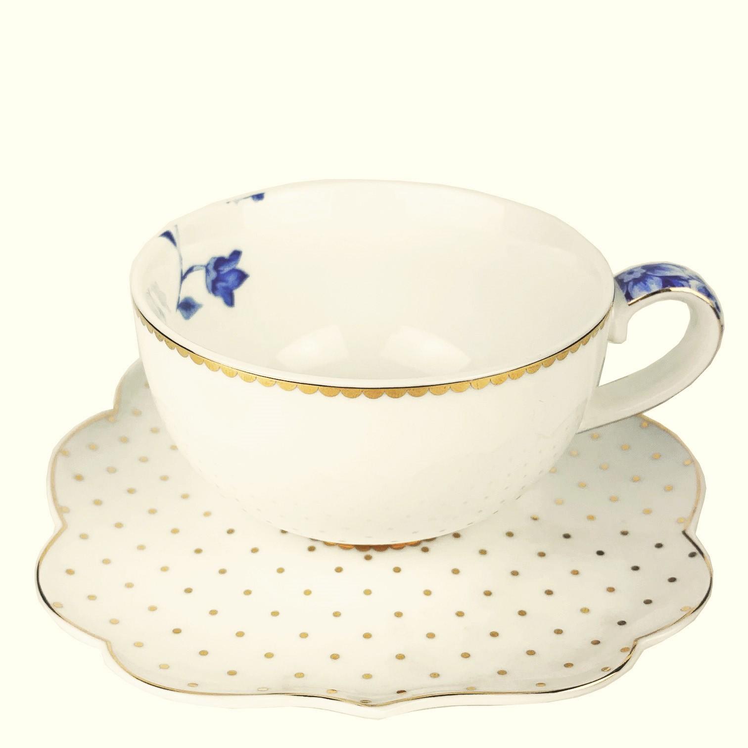 Xìcara para Café com Pires Royal White