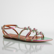 Flat Lacinhos Cristal Rosa Verde