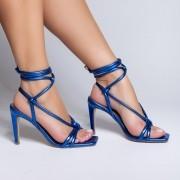 Sandália Sandra Amarração Egeu Azul