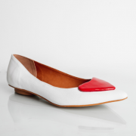 Sapatilha Love Confort White/Red